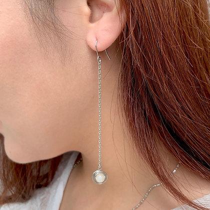Ring Planet Long Earrings