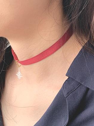 Neva Choker Necklace (Scarlet Red)
