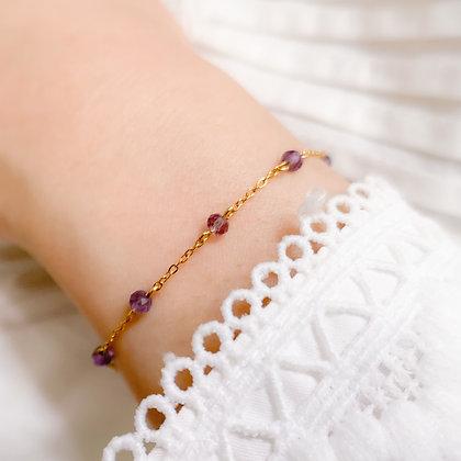 Classic Faceted Amethyst Bracelet