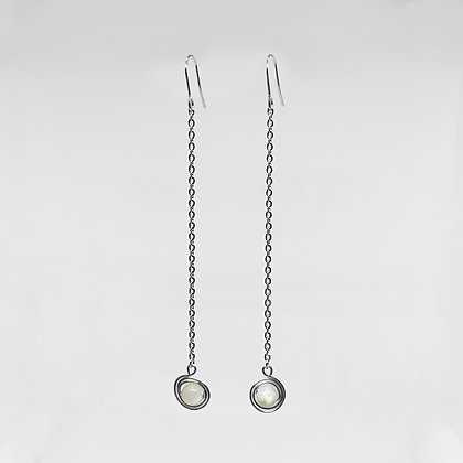 Ring Planet Long Earrings