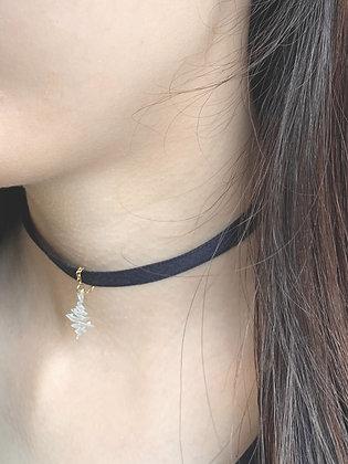Neva Choker Necklace (Midnight Blue)