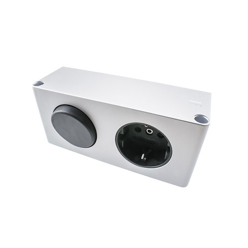 Steckdosen-Box 30 DE mit Schalter (10W Spiegelschrank Kombi-Box 230V auf 12V)