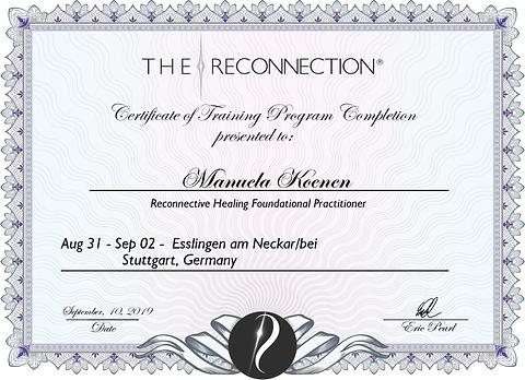 Zertifikat Reconnective Healing Ausbildung