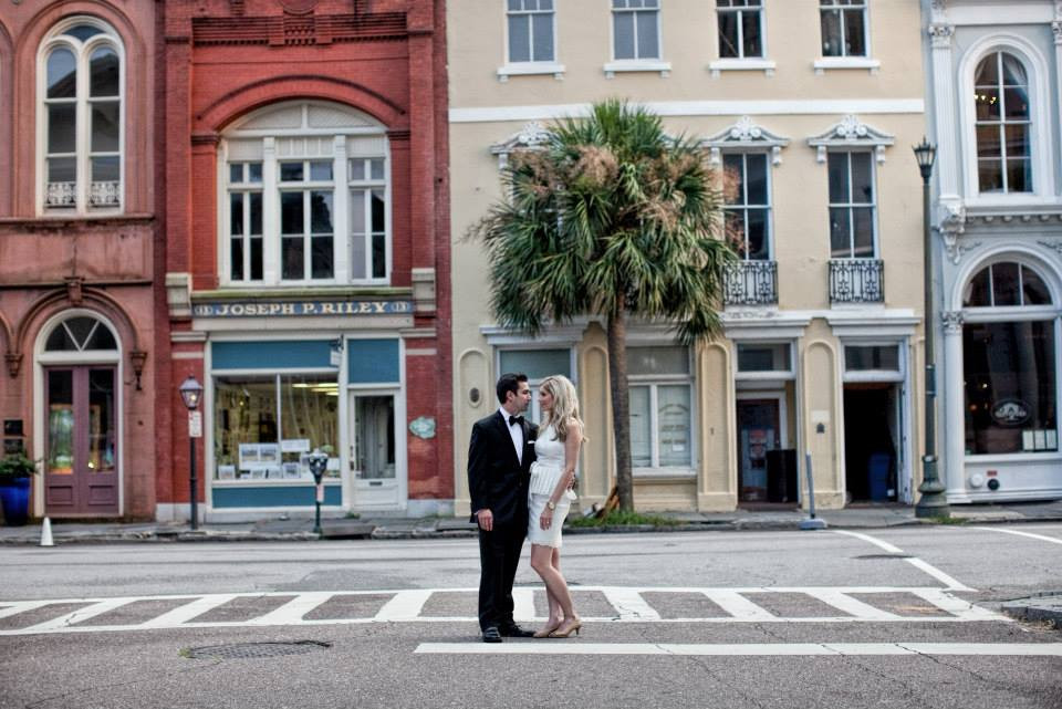 This picture is from Downtown Charleston taken during our engagement photo shoot.