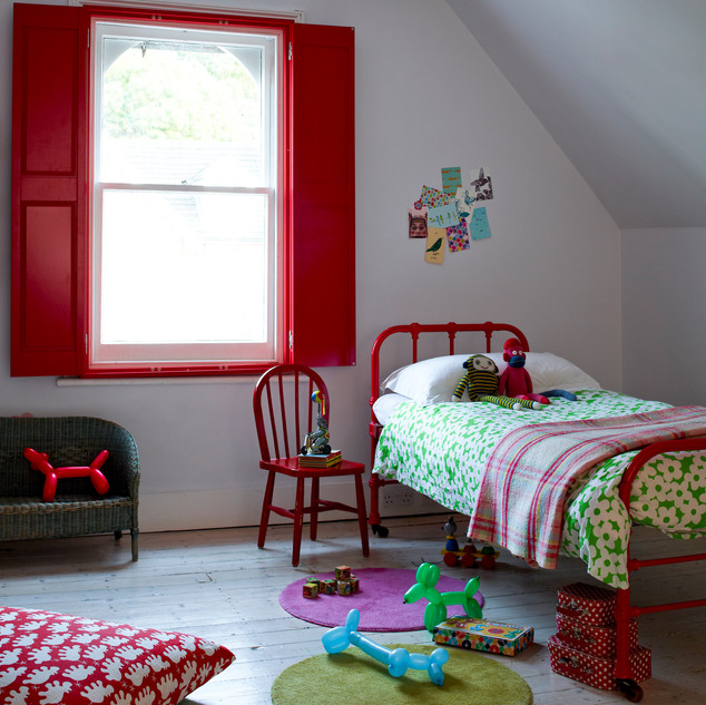 Solid Red Raised Shutters - Basswood .jp