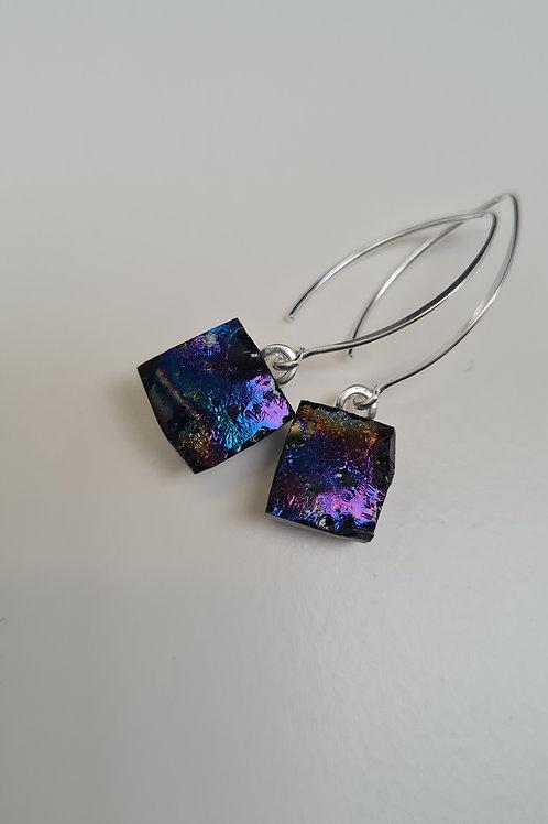 Black Magic Squares earrings