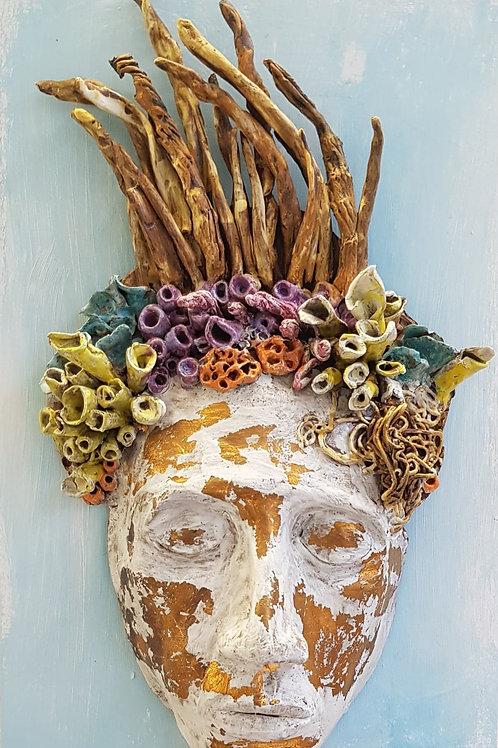 Mermaid Mask wall sculpture