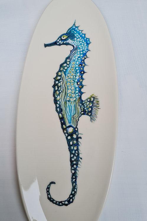 Large Seahorse Serving Platter