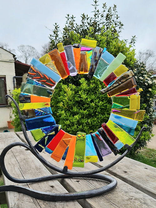 Colour burst with wrought iron stand