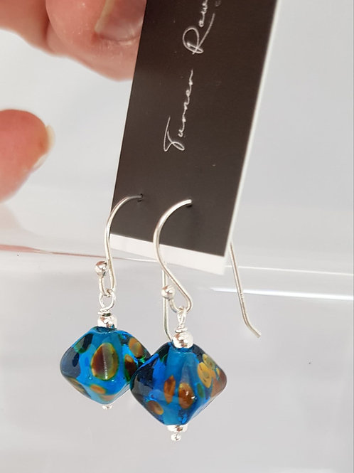 Glass Lampwork EarringsTurquoise