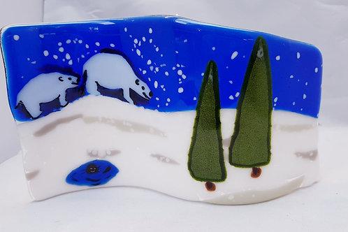 Polar Bear Tea Light Wave