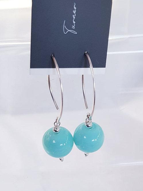 Marble Glass Lampwork Earrings