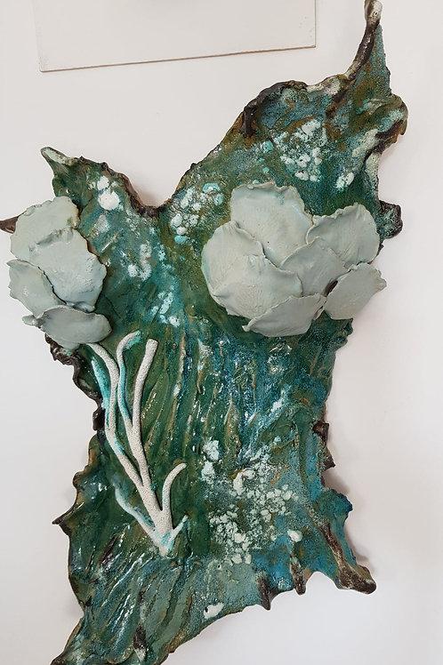 Mermaid wall sculpture
