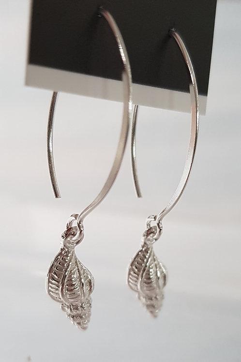 Silver Shell Earrings Short