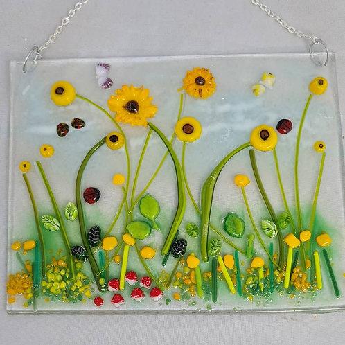 Sunflower hanging panel