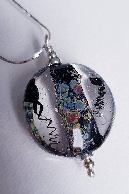 Lampwork Abstract Implosion Necklace