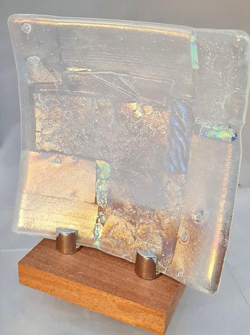 Small Square  Iridescent Shallow Platter