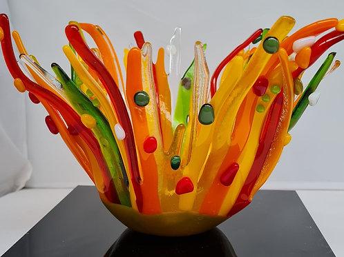 'Splash of Colour' Glass Art Bowl