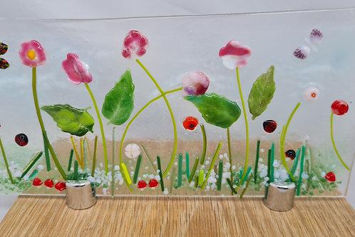 Meadow flowers Tea Light holder on stand
