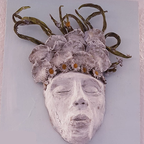 Mermaid Mask wall sculpture