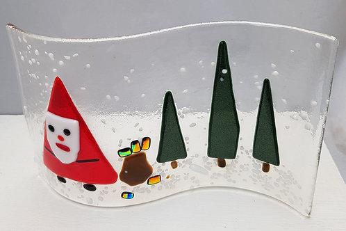 Father Christmas Tea Light Wave