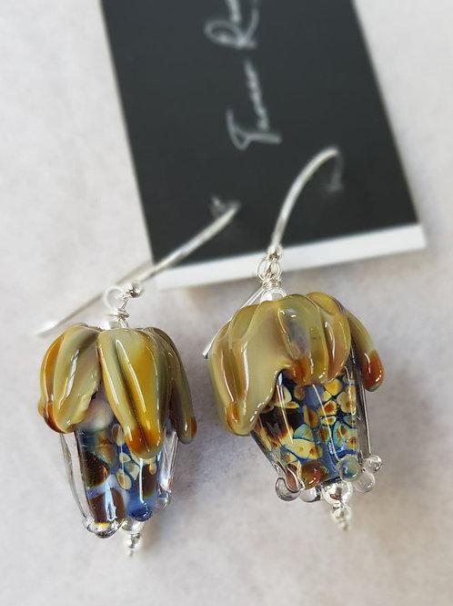 Bud Glass Lampwork Earrings