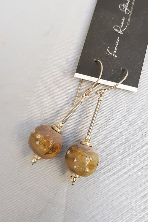 Glass and Silver Lampwork Earrings