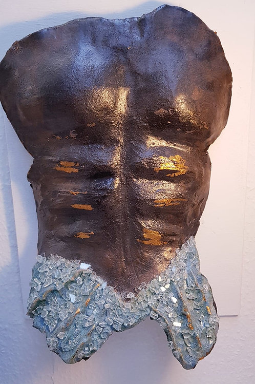 Merman wall sculpture