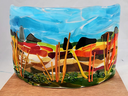 Abstract fields Tea Light holder
