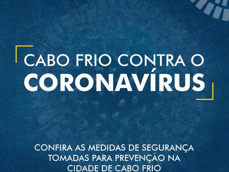 Medidas de segurança para prevenção do coronavírus em Cabo Frio