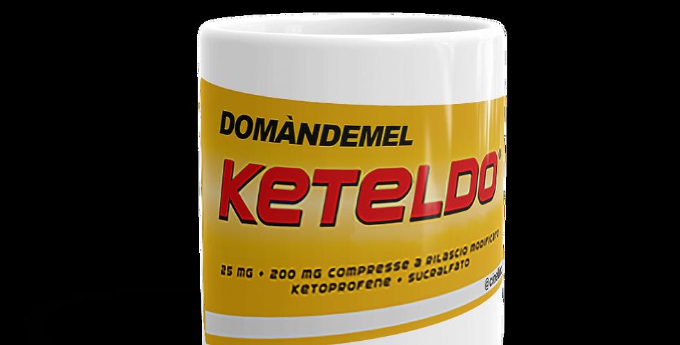 """Tazza bianca """"Domàndemel Keteldó"""""""