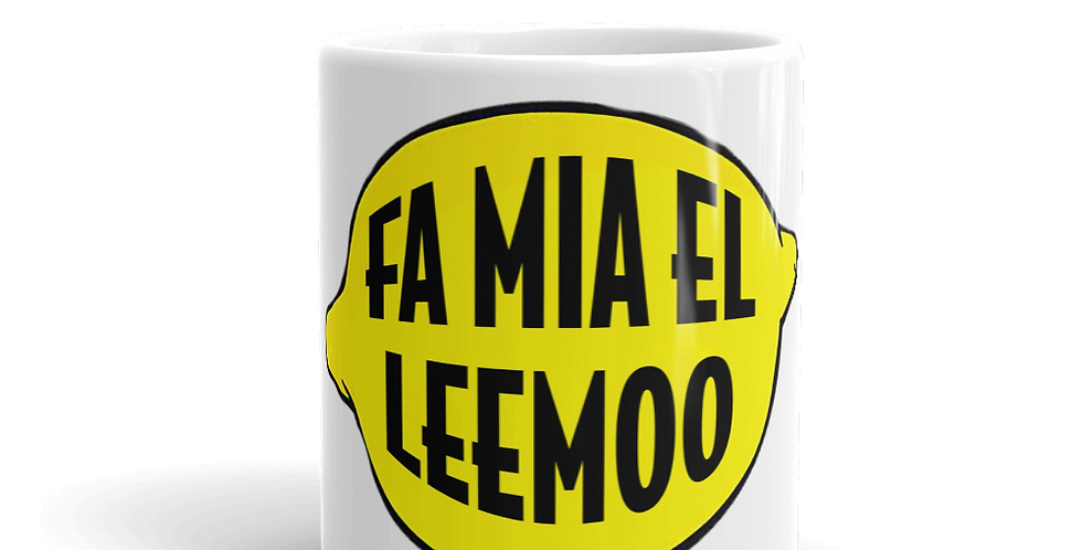 "Tazza bianca ""Fa mia el leemoo"""