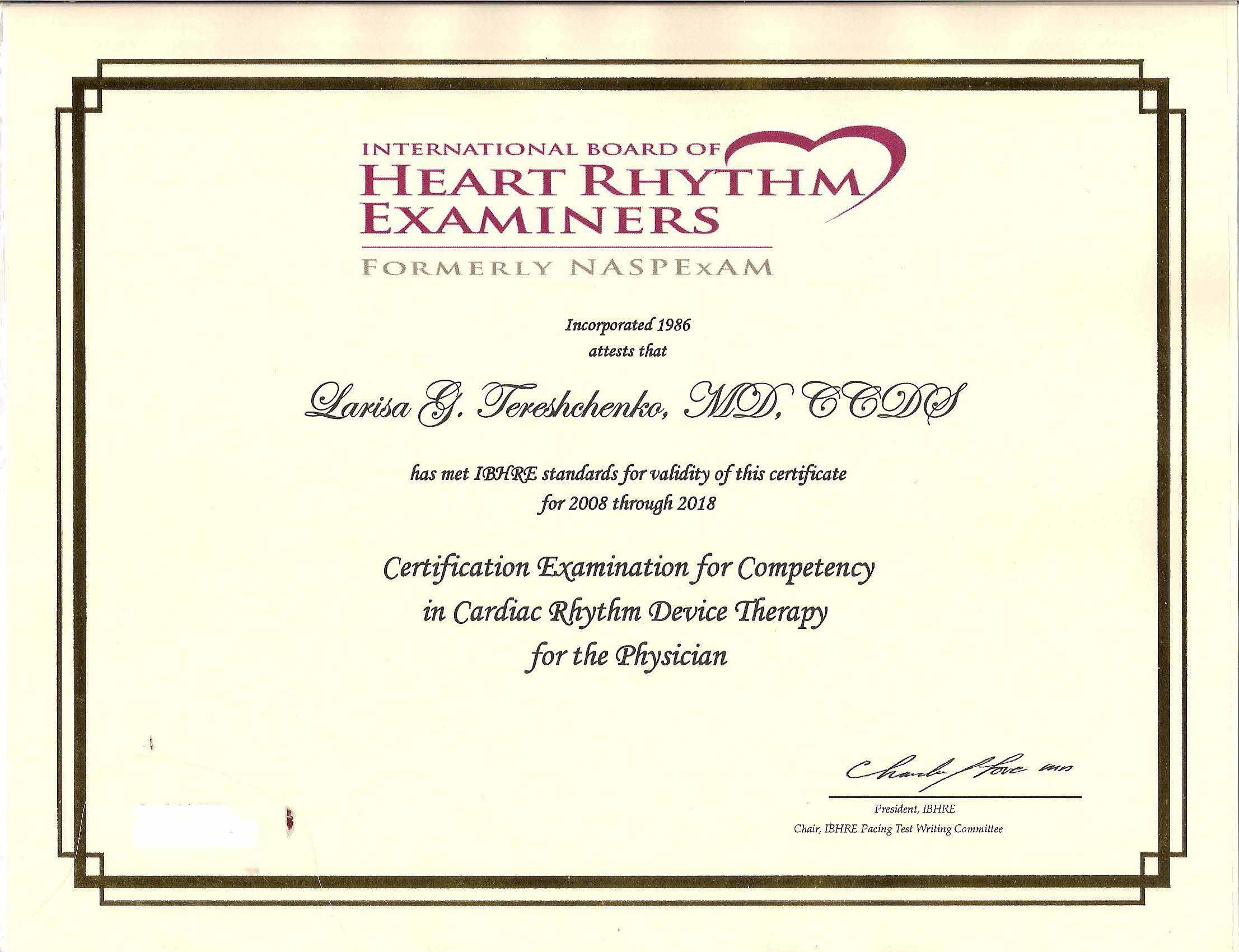 CCDS certificate