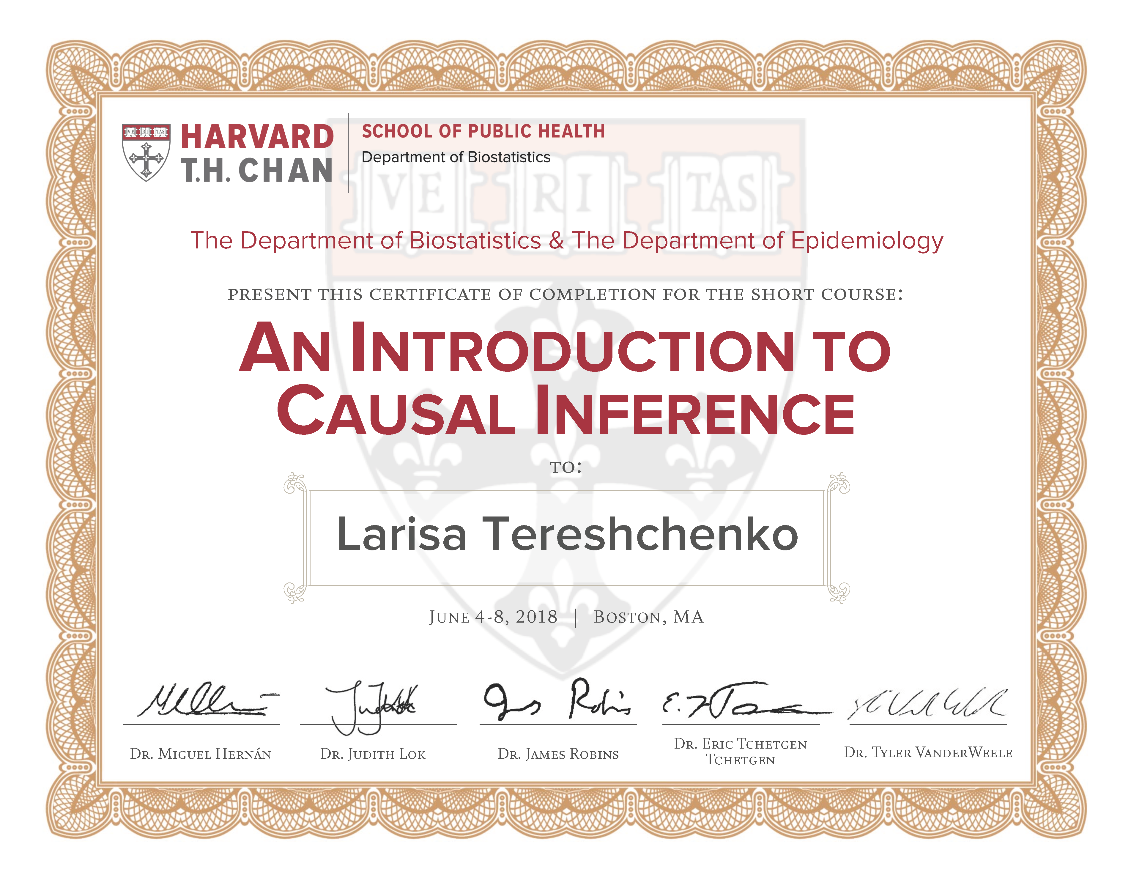 Robins Causal Inference HSPH
