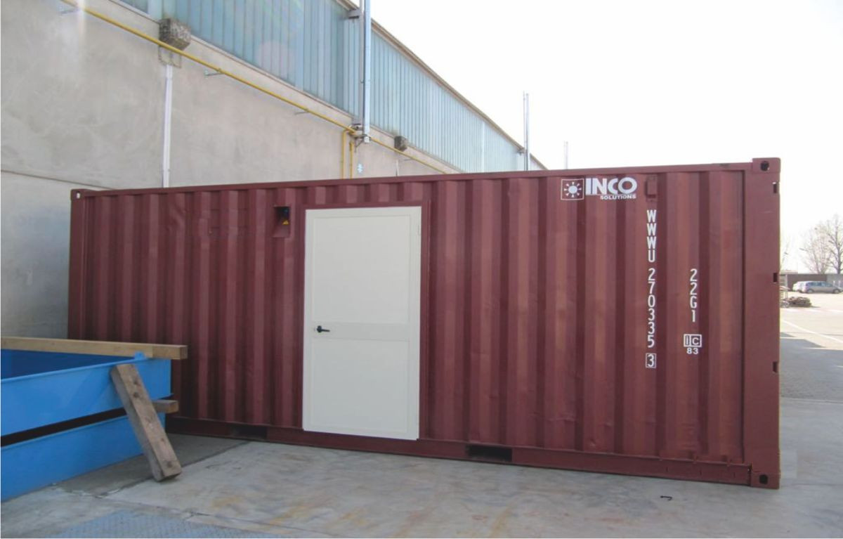 Container navale 20' adibito a magazzino