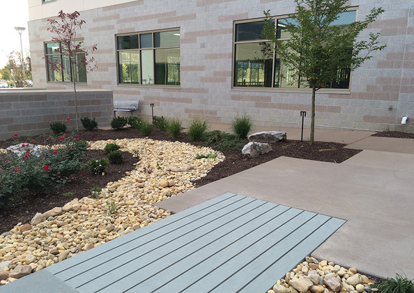 Courtyard Interior- Dry Riverbed