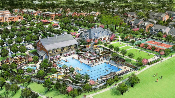 Rendering of Community Center and Pool House