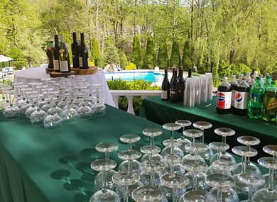 outdoor bar, catering bar
