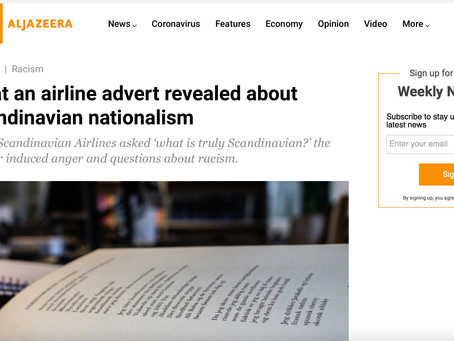 Lamies Nassri - Al Jazeera: What an airline advert revealed about Scandinavian nationalism