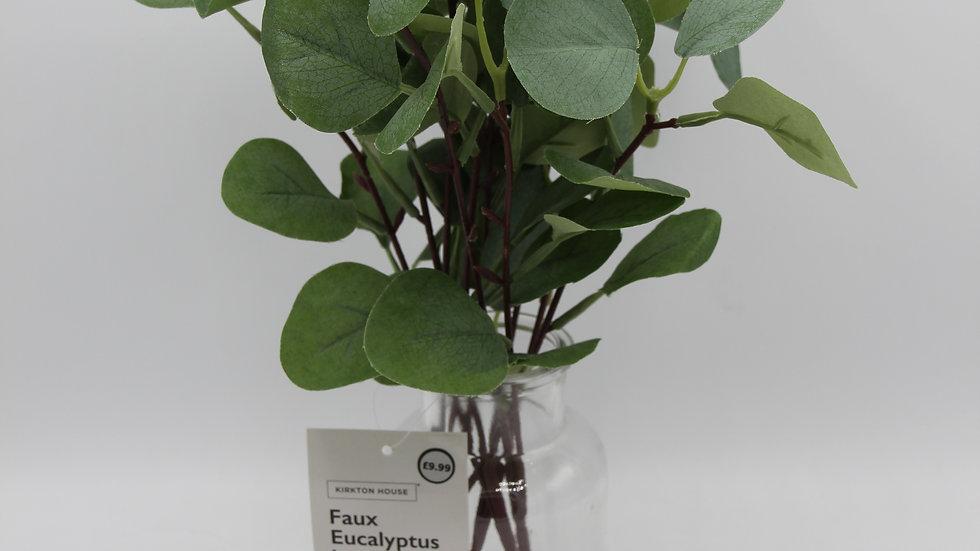 Fake Eucalyptus Vase