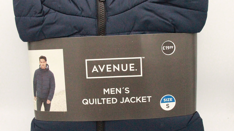 Blue Men's Quilted Jacket