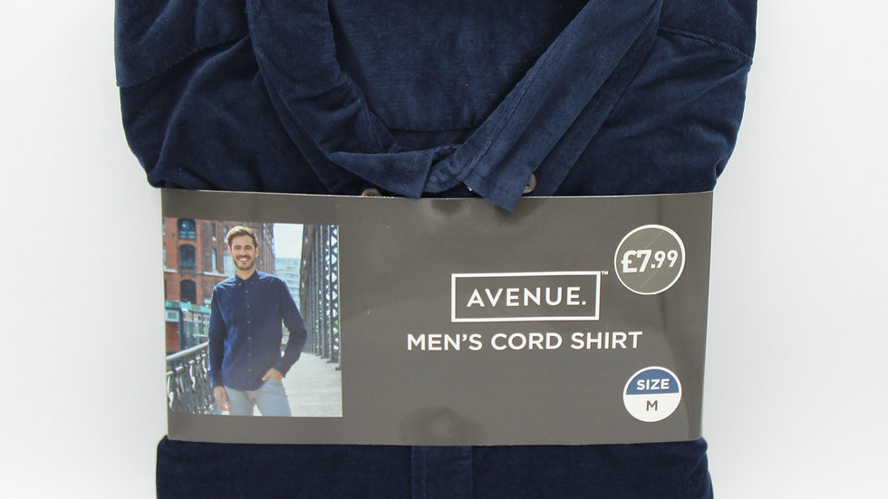 Men's Blue Cord Shirt
