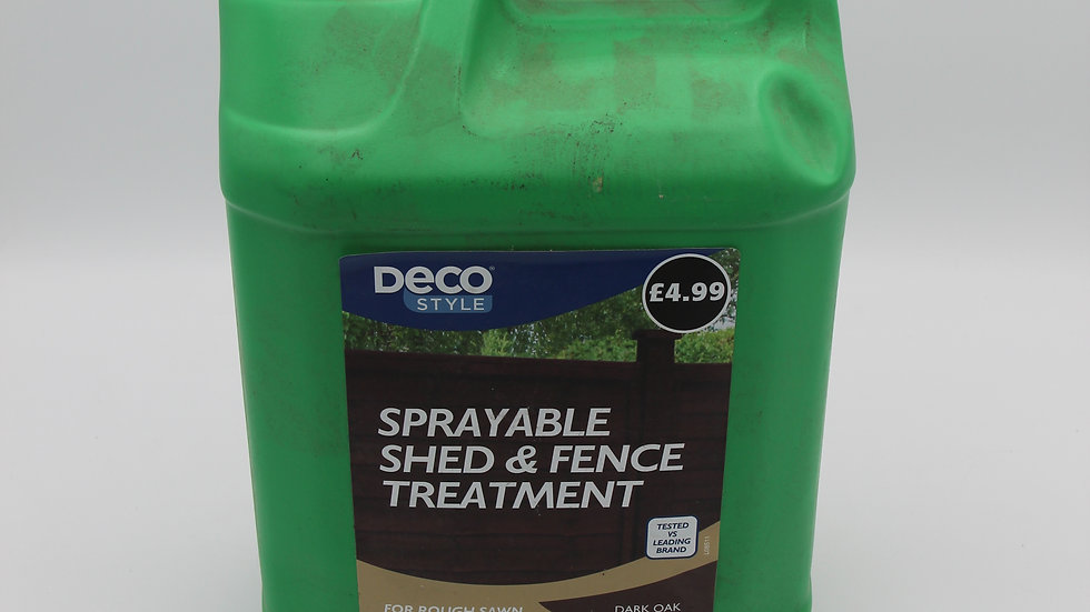 Sprayable Shed and Fence Treatment