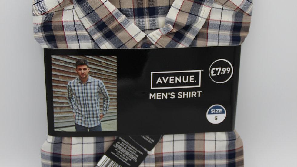 Men's Brown Checked Shirt