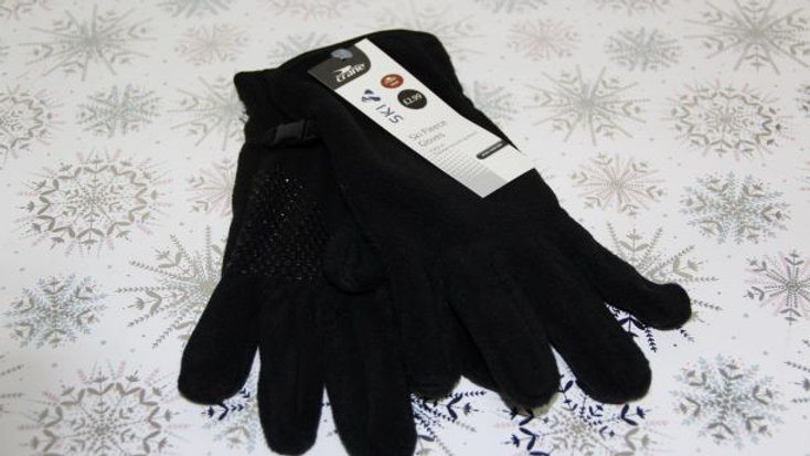 Green Ski Fleece Gloves