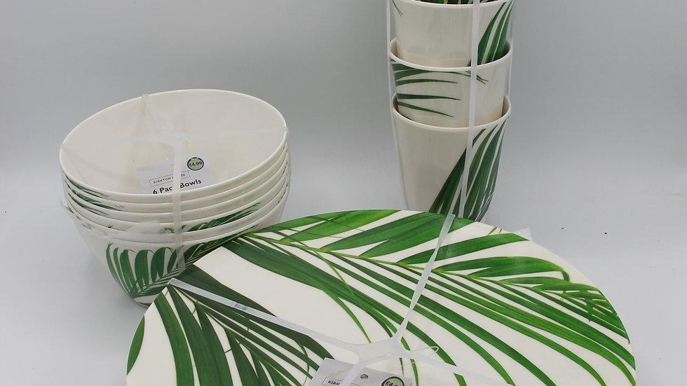 Melamine Tropical Dining Set