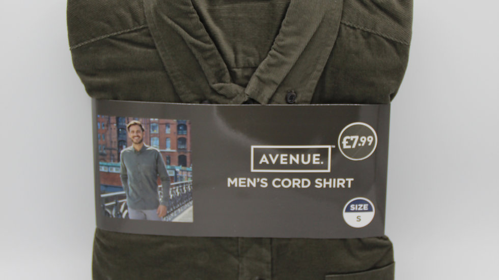 Men's Green Cord Shirt