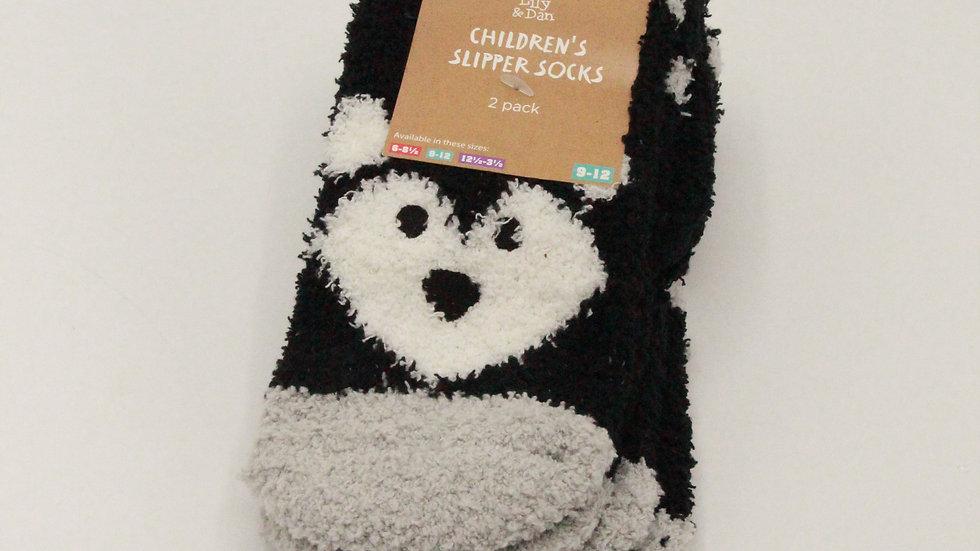Children's Slipper Socks - Wolf