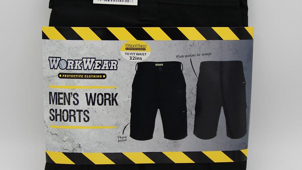 Black Men's Work Shorts