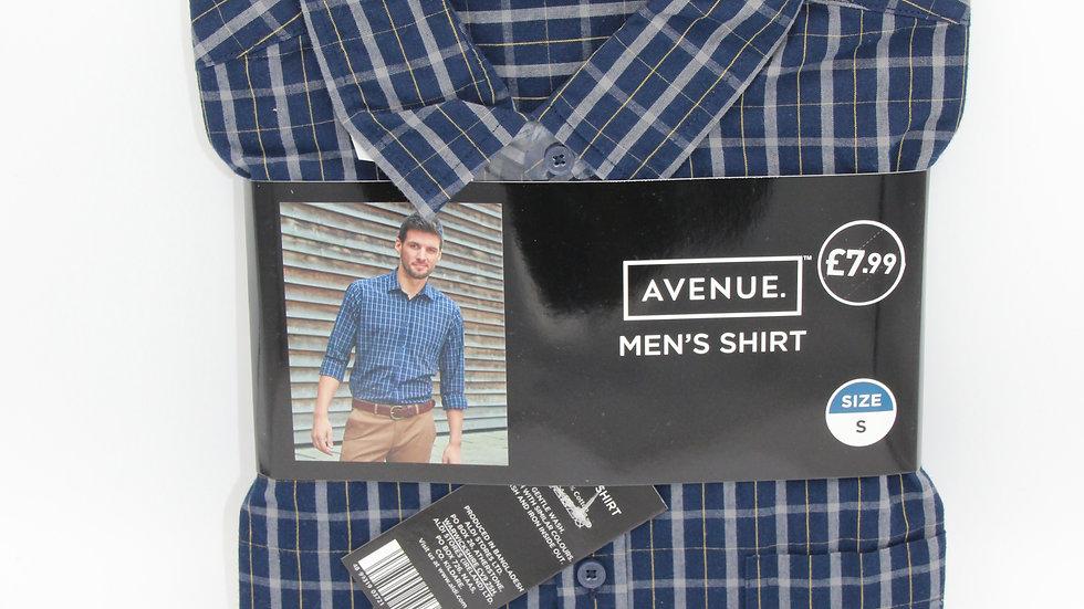 Men's Blue & Yellow Checked Shirt